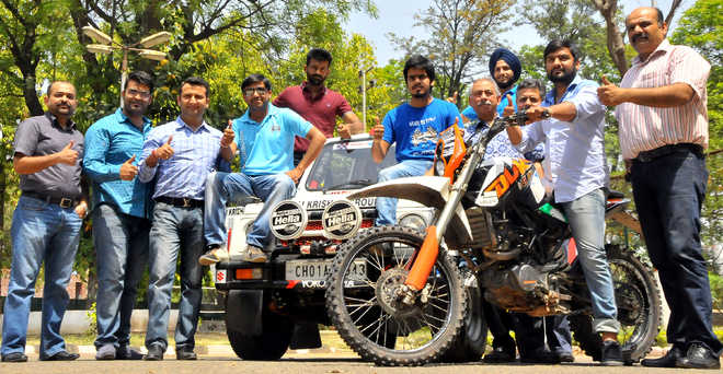 Organisers of the SJOBA Rally in Chandigarh.