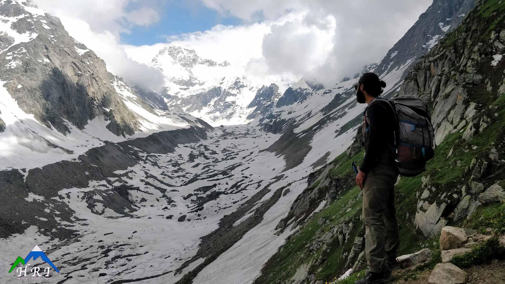 Day 3: Balu ka Ghera (11,900ft) to Shea Goru(12,900ft) Crossing Hampta Pass (14,100ft)