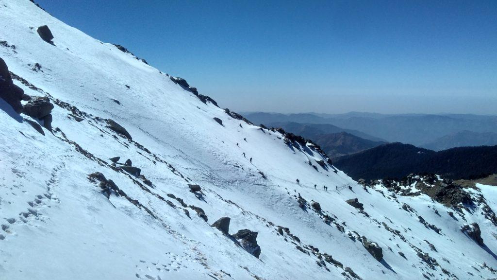 Snow Slope on Churdhar Trek