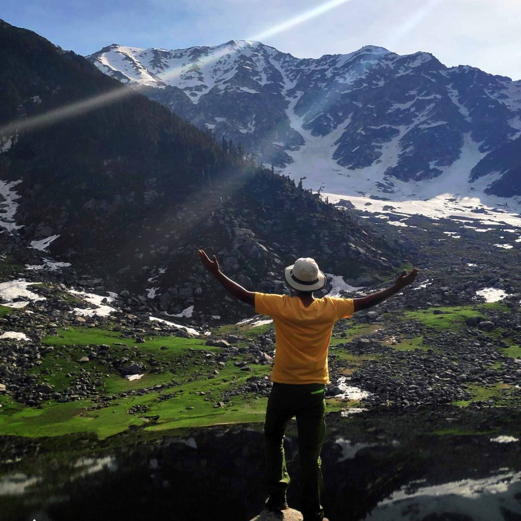Minkiani Pass Views from Kareri Lake, Dharamshala Trek with Heaven Riders India