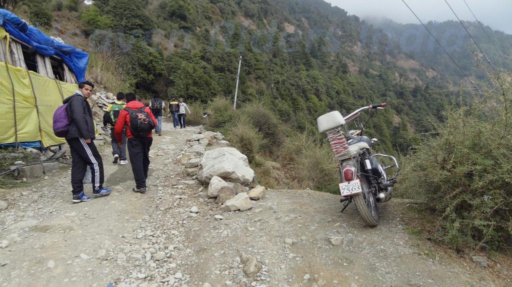 Beginning of Triund - Heaven Riders India